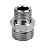 1/2 x 3/8 Chrome Brass Reducing Nipple - 07000005